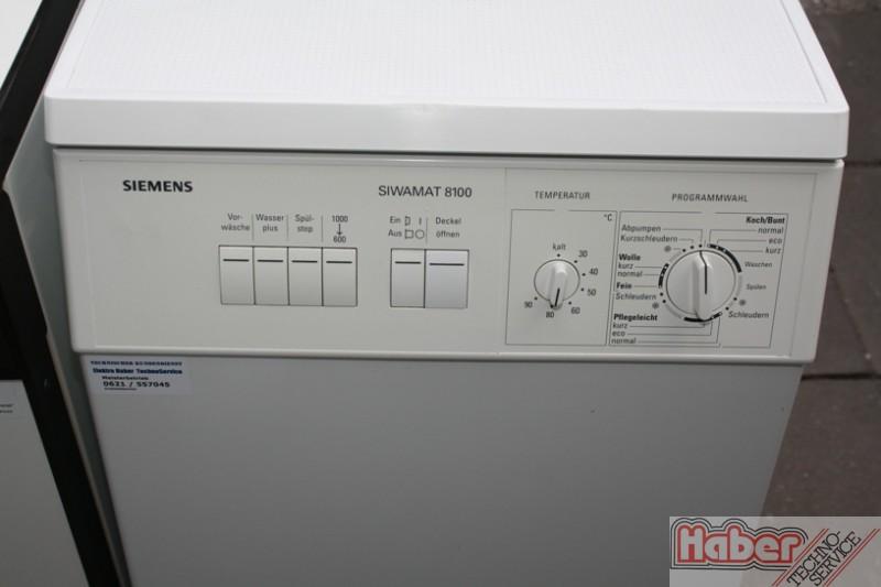 Elektro haber gebrauchter toplader siemens siwamat 8100